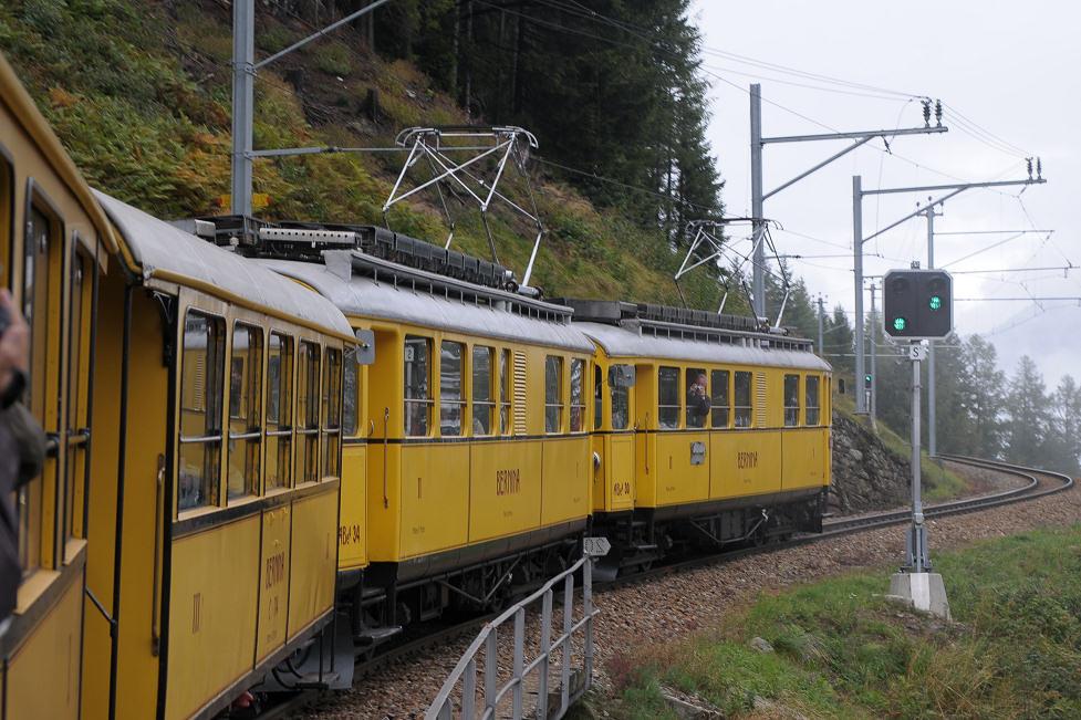 Mit dem gelben Züglein Unterwegs - freie Fahrt