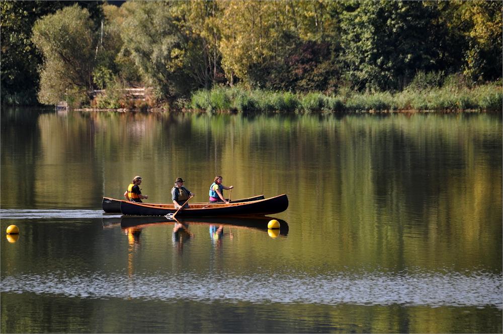 mit dem Kanu unterwegs......