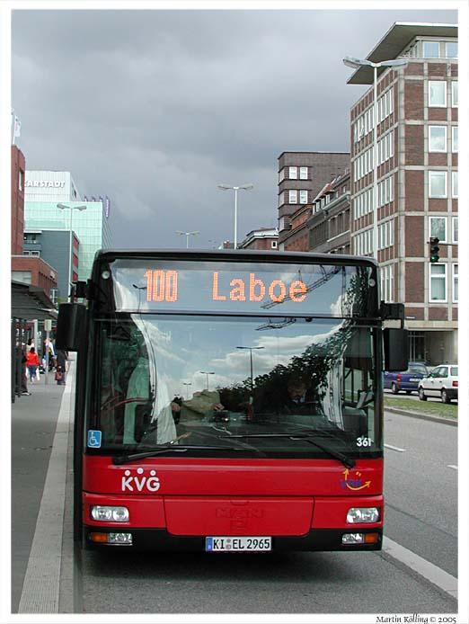Mit dem Kieler Bus nach Laboe