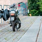 Mit dem Moped zum Angeln