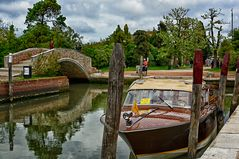 Mit dem Riva Boot nach Torcello