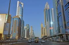 Mit dem Taxi durch Dubai