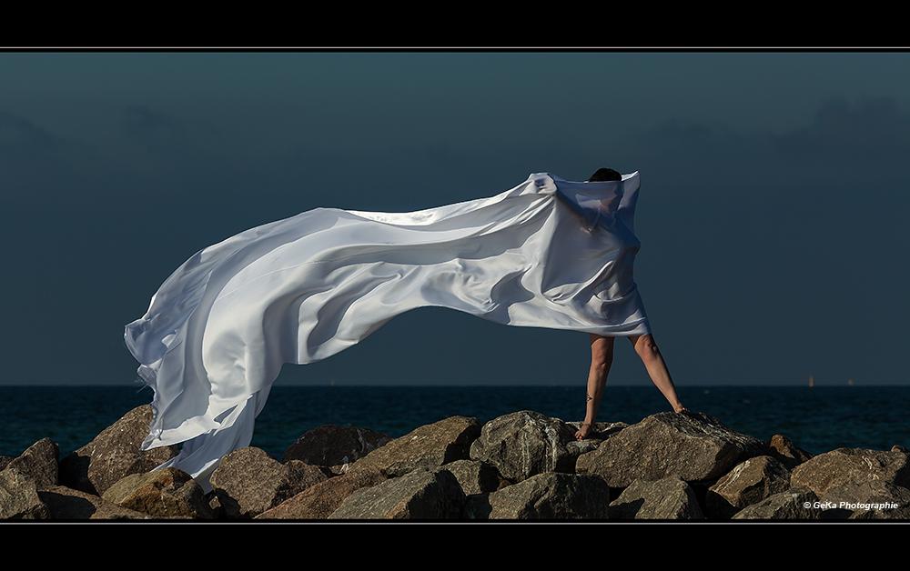 mit dem Wind spielen