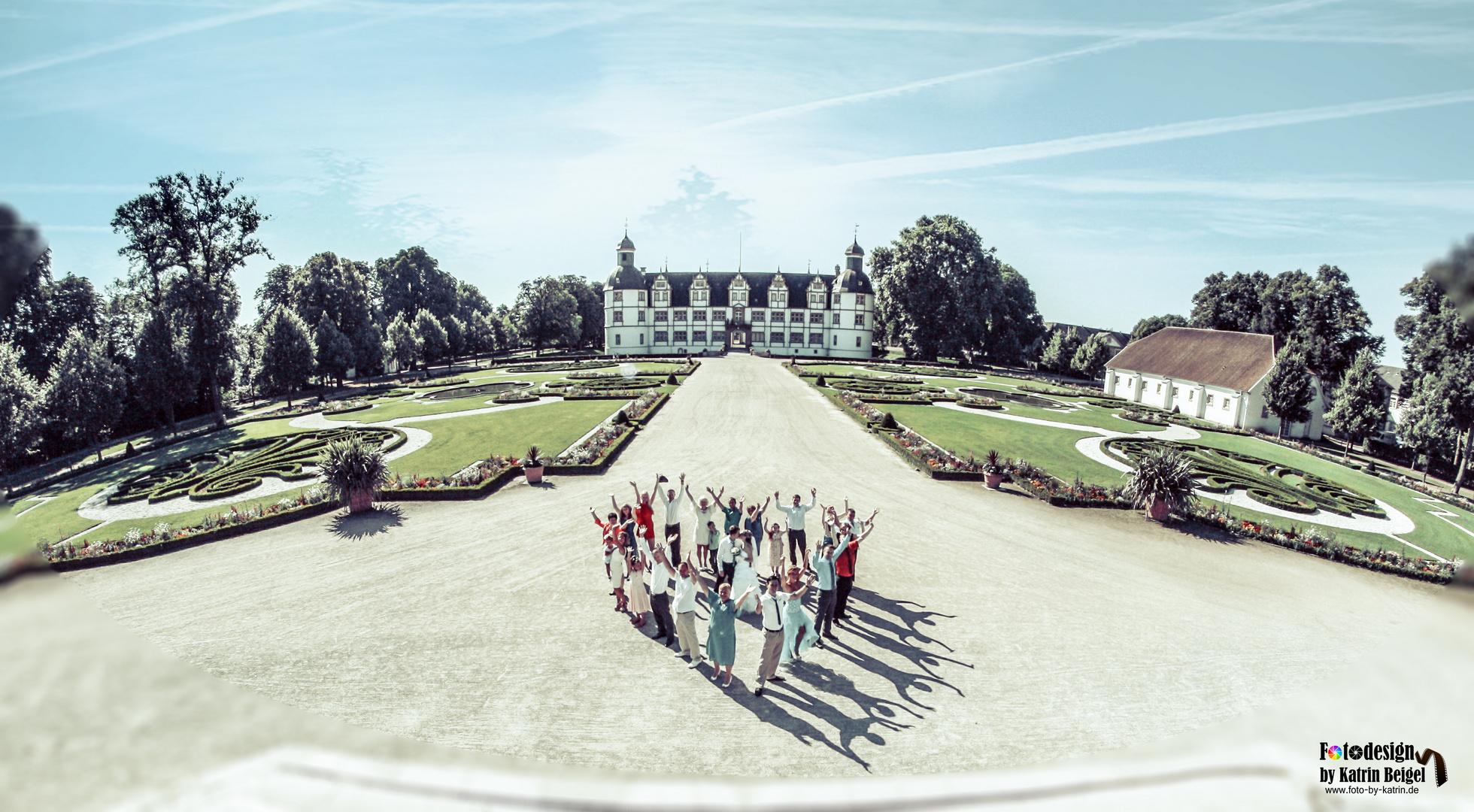 Mit den Gästen ....Hochzeit im Paderborn