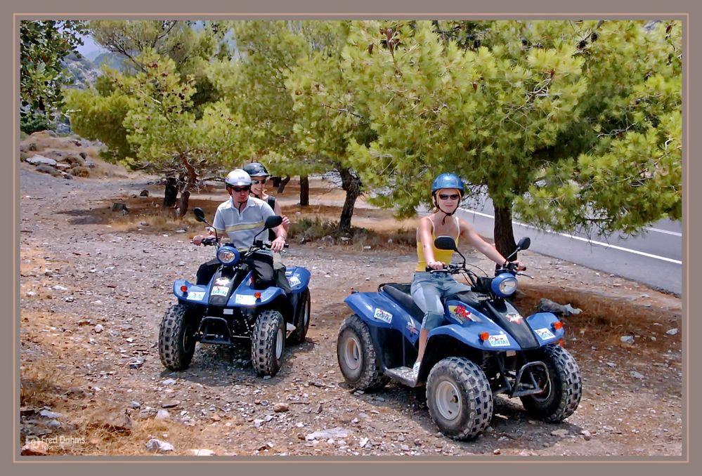 Mit den Motorrad Quads durch Kreta