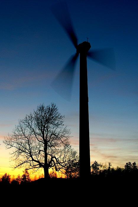 mit der Nacht kommt der Wind