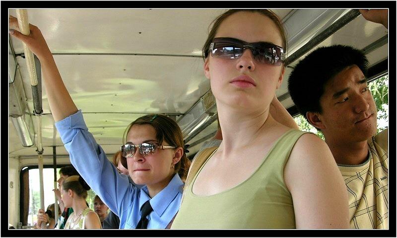 Mit der Straßenbahn durch Irkutsk...
