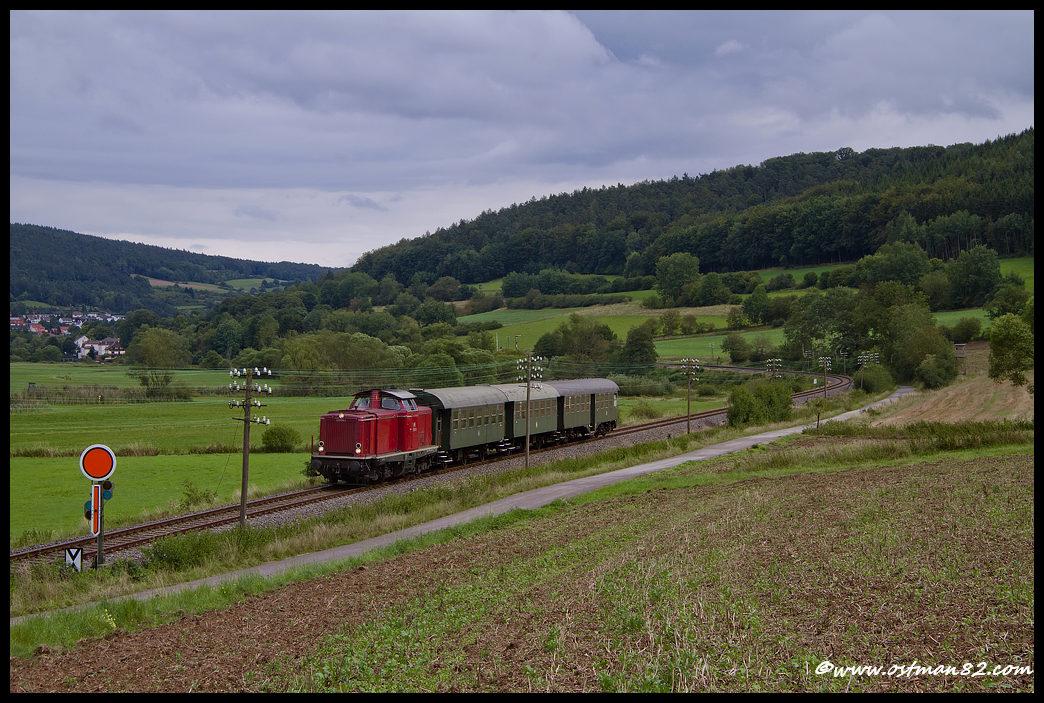 Mit der V 100 über die Vogelsbergbahn