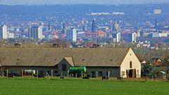 Mit diesem Dresdenblick unter Einbeziehung des bäuerlichen Umlandes...