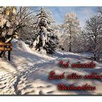 Mit diesem Winterbild....