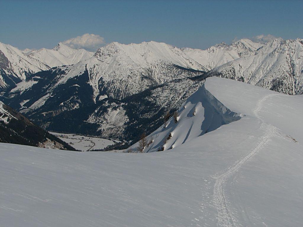 Mit einem herrlichen Blick in den Lechtaler und Allgäu er Alpen.