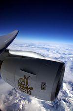 Mit Emirates über die Alpen