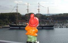 Mit Heribert auf dem Travemünder Leuchtturm