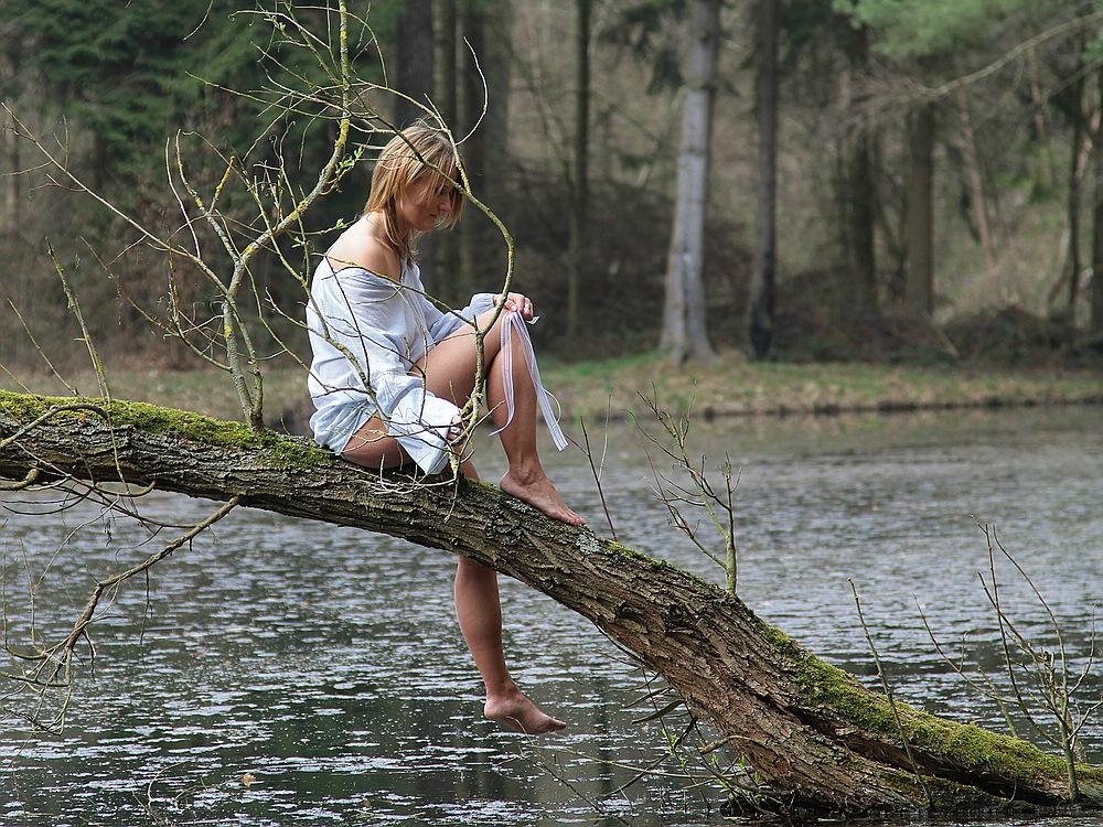 Mit Katrin am Teich 1