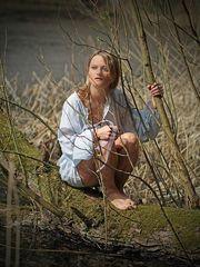 Mit Katrin am Teich 2