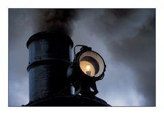 mit Rauch und Licht unterwegs nach Budweis