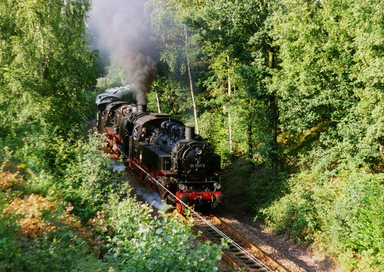 Mit Volldampf zwischen Wechselburg und Chemnitz