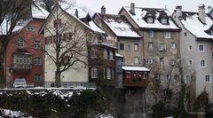 Mittelalterlich geprägte Winkel, Gassen und Fassaden