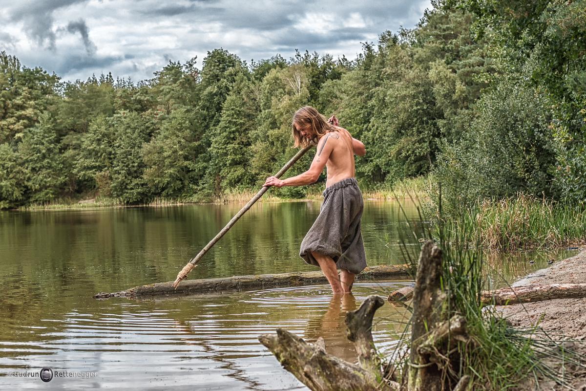 mittelalterliche Fischfang-Szene