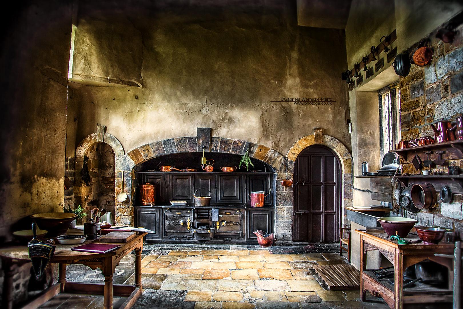 mittelalterliche kueche von 1710 foto bild architektur. Black Bedroom Furniture Sets. Home Design Ideas