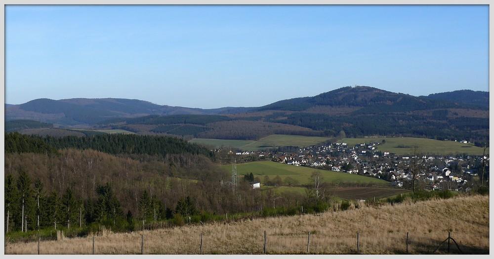 Mittelgebirgslandschaft im nördlichen Siegerland