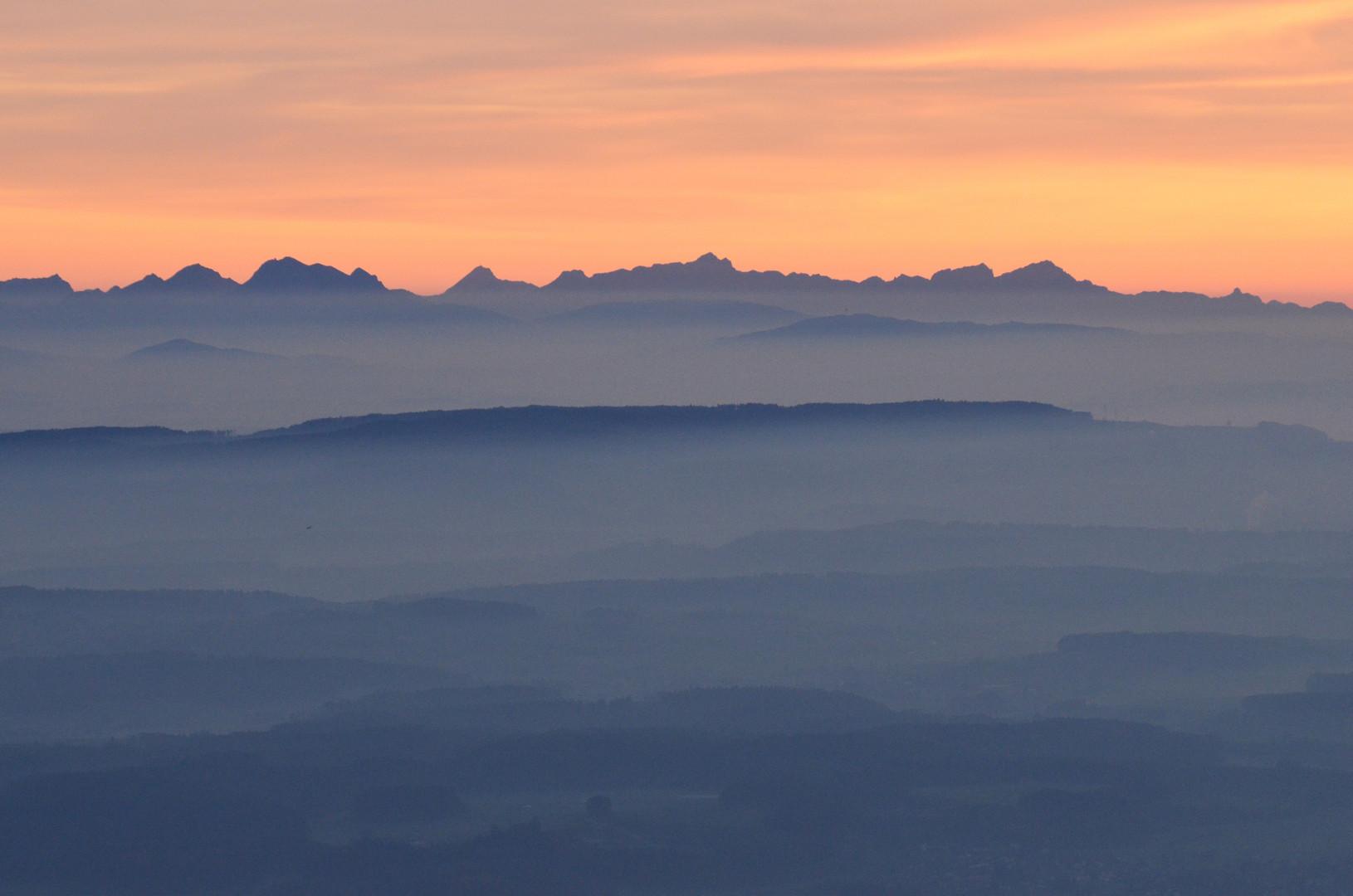 Mittelland, Voralpen, Alpen....Relief