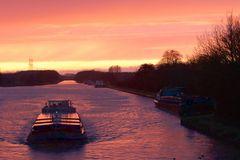 Mittellandkanal mal ganz stimmungsvoll