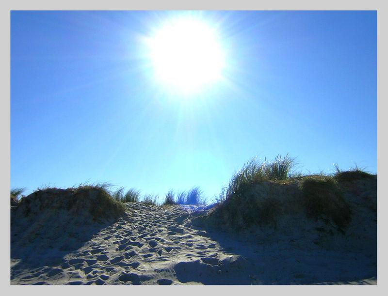 Mitten im Oktober am Strand