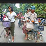 Mitten im Verkehr