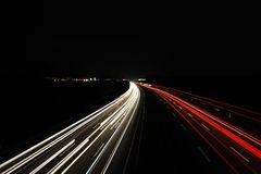 Mitten in der Nacht über der A2 bei Kolenfeld