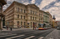 Mitten in der Stadt Prag