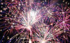 Mittendrin im Feuerwerk