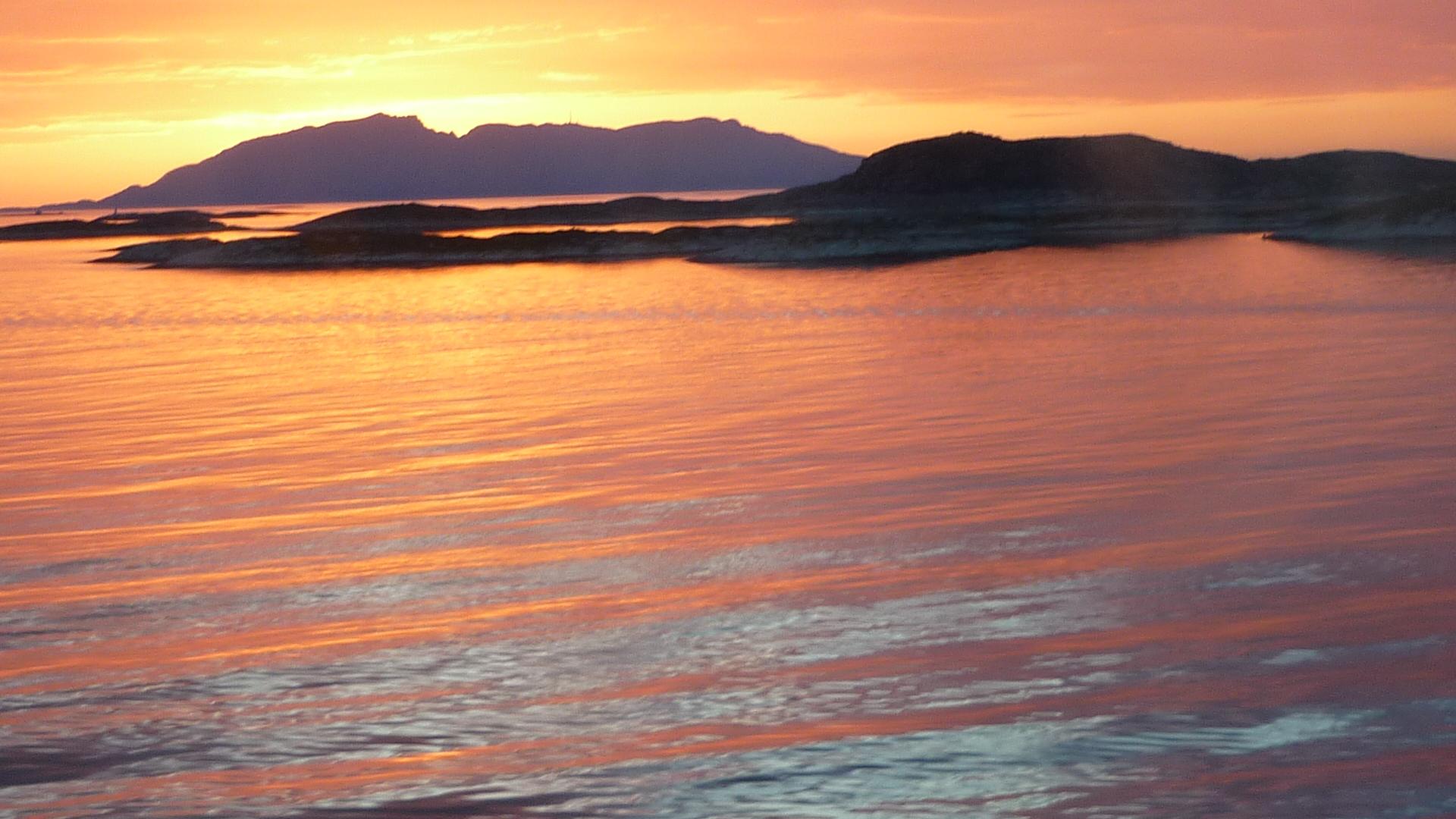 Mitternacht in Norwegen.