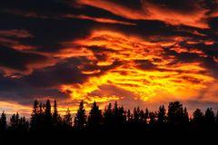 Mitternacht in Schwedisch-Lappland
