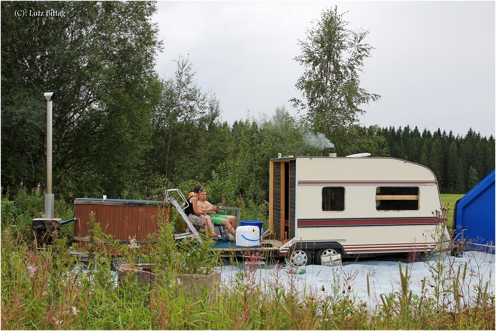 mobile sauna foto bild sport menschen wrc bilder auf. Black Bedroom Furniture Sets. Home Design Ideas