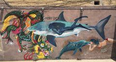Moby Dick e lo street art romano....