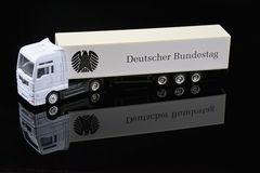 Modell des Infotrucks des Deutschen Bundestages