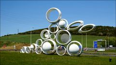Modern sculpture in a new roundabout