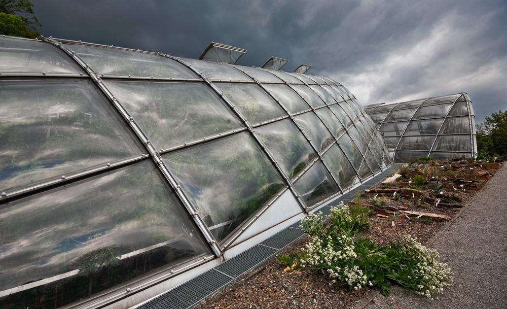 Moderne Glashäuser ...