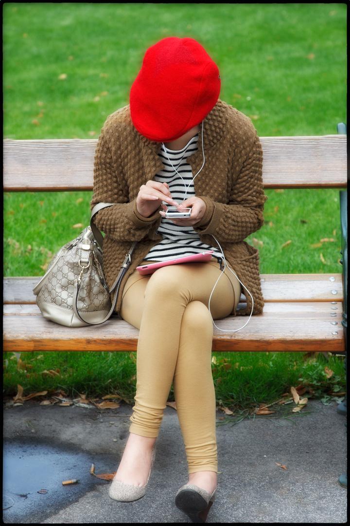 Modernes Rotkäppchen.....