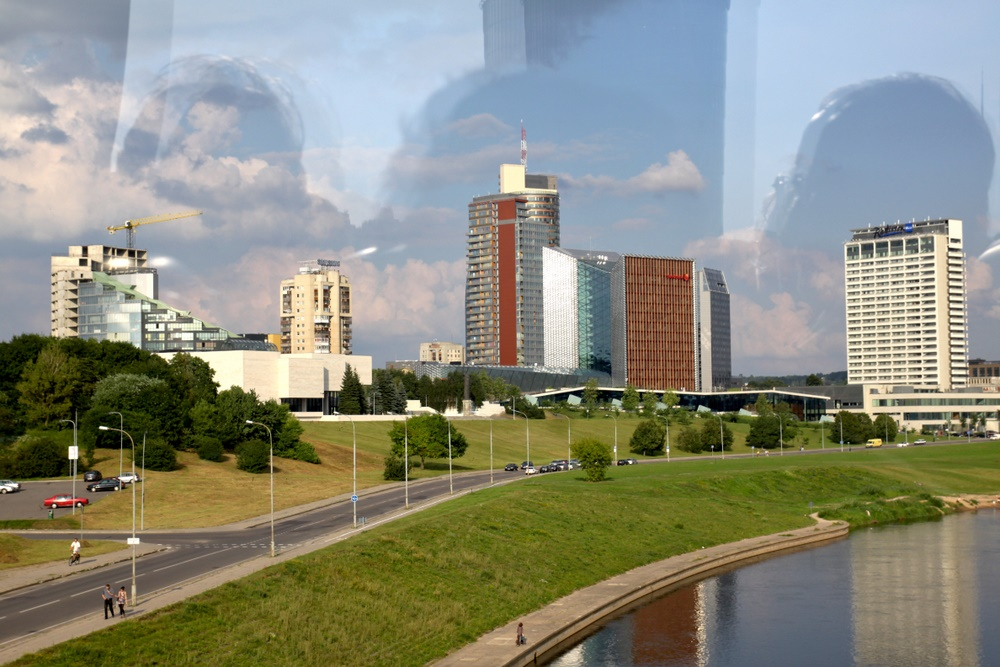 Modernes Vilnius mit persönlichem Hintergrund