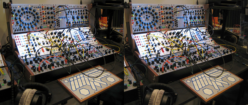 Modularer Synthesizer X-View (Kreuzblick Stereo)