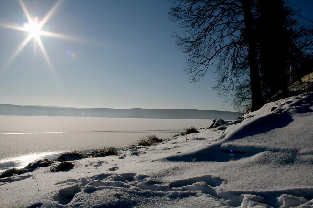 Möhnesee im Winter