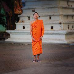 Mönch im Wat Somwang