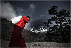 Mönch vor Everest