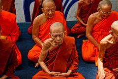 Mönche aus Wachs - Thailand