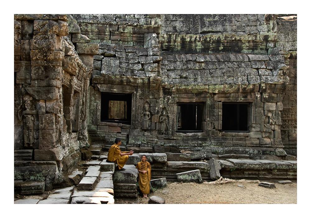 Mönche in Angkor Prohm
