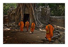 Mönche in Angkor Watt