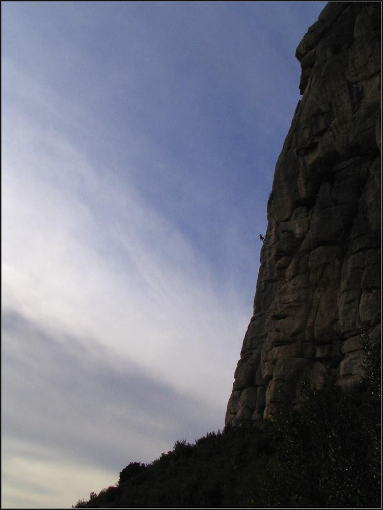 Mönchwand in Montserrat, Katalonien