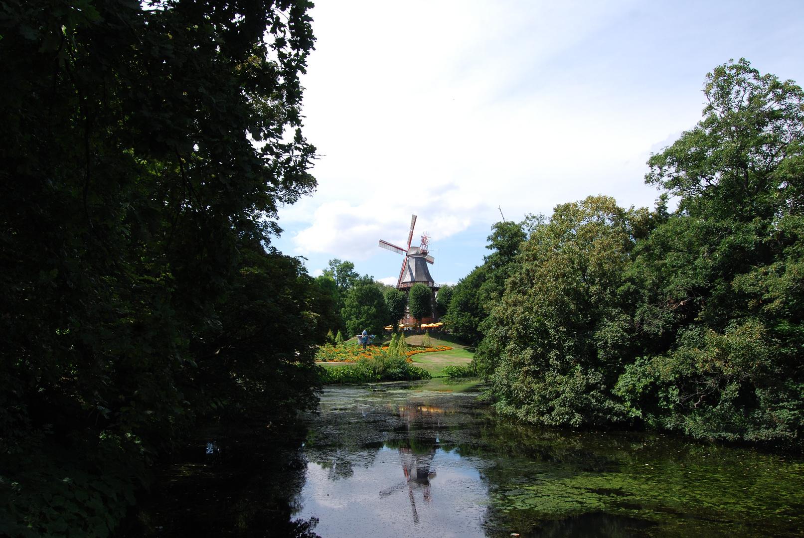 Molino de Bremen en agosto